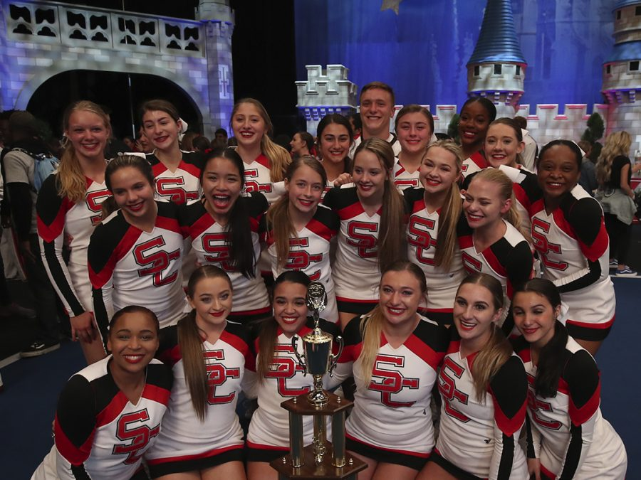 Crest cheerleaders winning at Nationals.